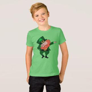 Dabbing Leprechaun St Patricks Day Kids T-Shirt