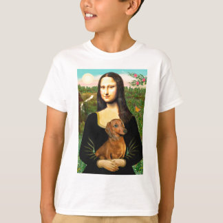 Dachshund (brown1) - Mona Lisa T-Shirt