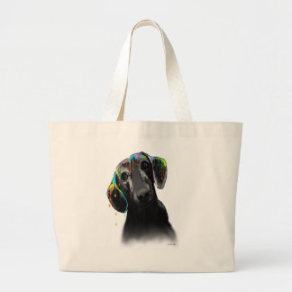 Dachshund Dog Large Tote Bag