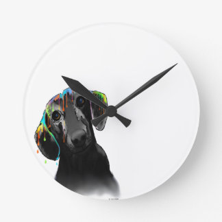Dachshund Dog Round Clock