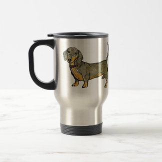 dachshund doxie wiener hot dog travel mug