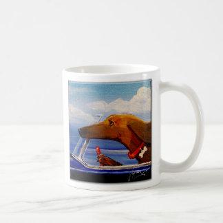 Dachshund Driving To A Beach Party Coffee Mug