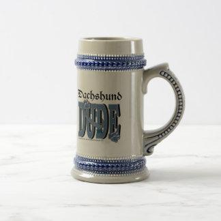 Dachshund DUDE Beer Stein