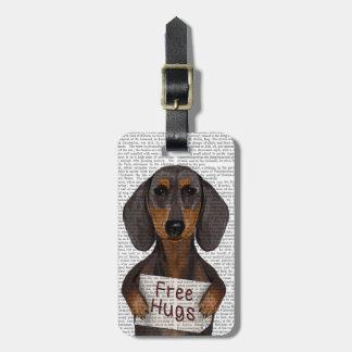 Dachshund Free Hugs Luggage Tag