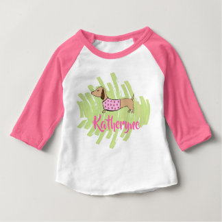 Dachshund Hearts Baby Shirt for Spring
