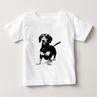 Dachshund Ink Drawing Baby T-Shirt