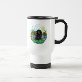 Dachshund (LH - Black-Tan) Travel Mug