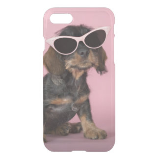 Dachshund Puppy Wearing Sunglasses iPhone 8/7 Case