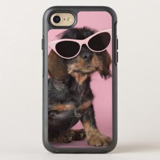 Dachshund puppy wearing sunglasses OtterBox symmetry iPhone 8/7 case