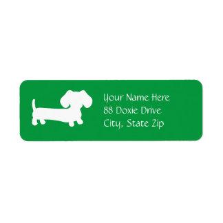 Dachshund Wiener Dog on Green