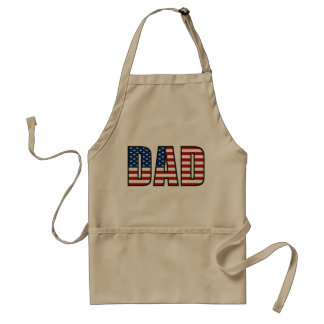 Dad American Flag Grilling Apron