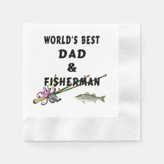Dad and Fishing Disposable Serviette