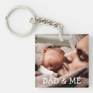 Dad and me Personalised Photo Key Chain