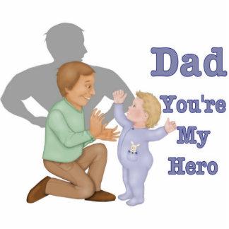 Dad Hero Photo Sculpture Key Ring