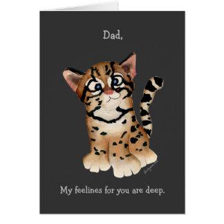 Dad, I Love You An Ocelot Card