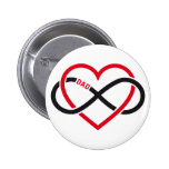 Dad infinity heart for Father's day 6 Cm Round Badge