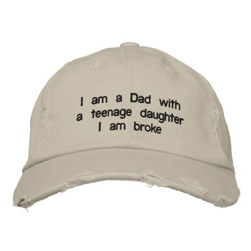 """DAD WITH A """"DAUGHER"""" BASEBALL CAP OR HAT"""