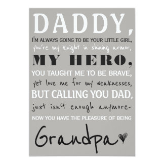 Daddy And Grandpa Cute Pregnancy Announcement