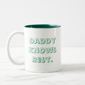 Daddy Knows Best. Two-Tone Mug