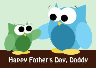 owl fathers day cards zazzle nz