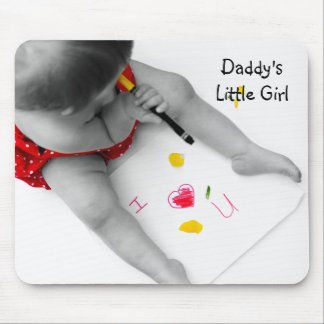 Daddys Little Girl I Love You Dad I Heart U Mouse Pad