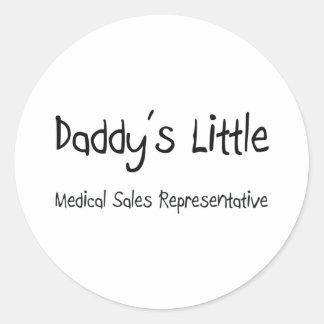 Daddy's Little Medical Sales Representative Sticker