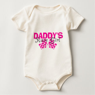 Daddy's Race Girl Baby Bodysuit