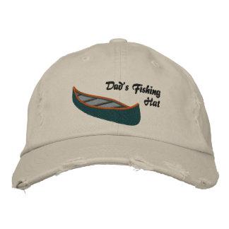 Dads Fishing Hat with Canoe Baseball Cap