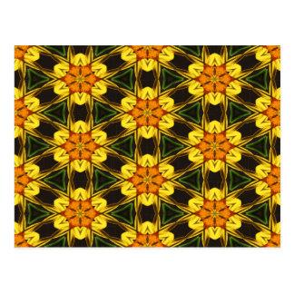 Daffodil Abstract Postcard