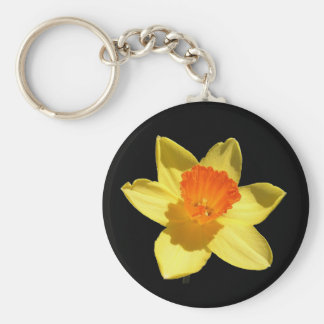 Daffodil (Background Removed) Key Ring
