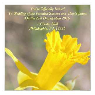 Daffodil Photo Customizable Wedding Invitation