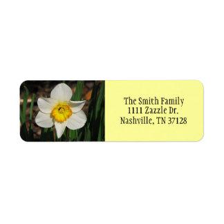 Daffodil Return Address Label