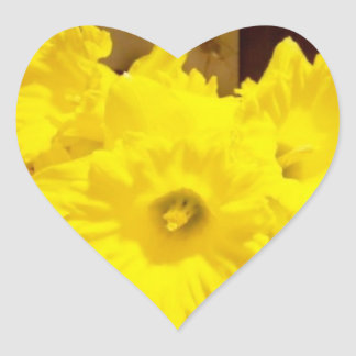Daffodils Heart Sticker