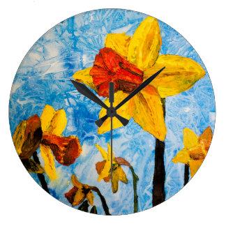 Daffy Daffs of Spring Clock