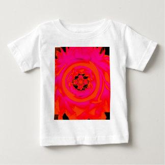 Dahlia Abstract, Orange, Pink Baby T-Shirt