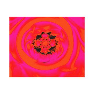 Dahlia Abstract, Orange, Pink Canvas Print