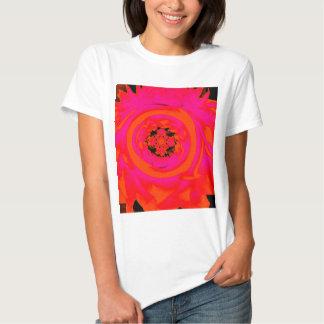 Dahlia Abstract, Orange, Pink T Shirt