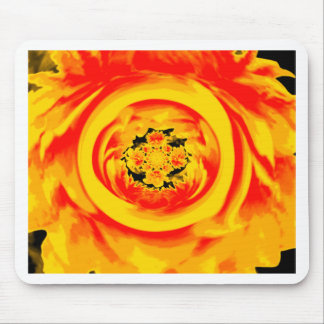 Dahlia Abstract, Yellow, Orange, Red Mouse Pad