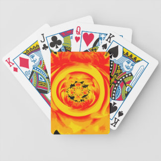 Dahlia Abstract, Yellow, Orange, Red Poker Deck
