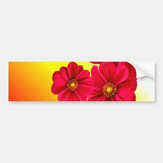 Dahlia Flower Collage Bumper Sticker