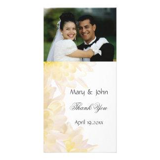 Dahlias Wedding Thank You Photo Card Template