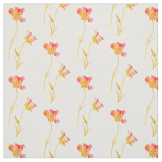 Dainty Vintage Pink Flower Pattern Fabric