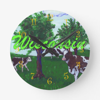 Dairy Cows of Wisconsin Round Clock