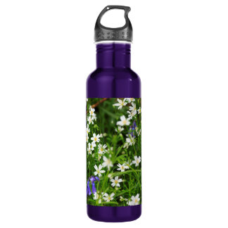Daisies and Blue Bells Water Bottle