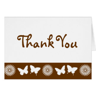Daisies and Butterflies in Chocolate Note Card