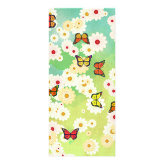 Daisies and butterflies personalized rack card