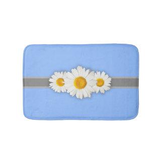 Daisies and Light Blue Bathroom Bath Mat Anti-Skid