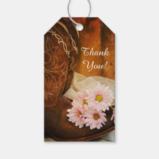Daisies Cowboy Boots Country Wedding Favor Tag