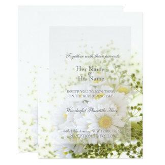 Daisies in Love- Editable Wedding Bouquet Card