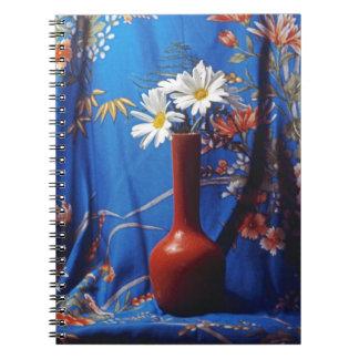 Daisies In Orange Vase Notebook